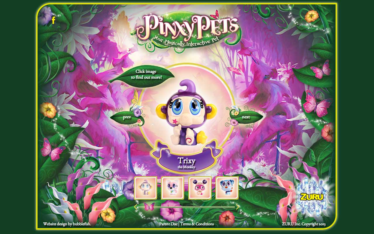 Bubblefish - Case Study - Pinxy Pets website
