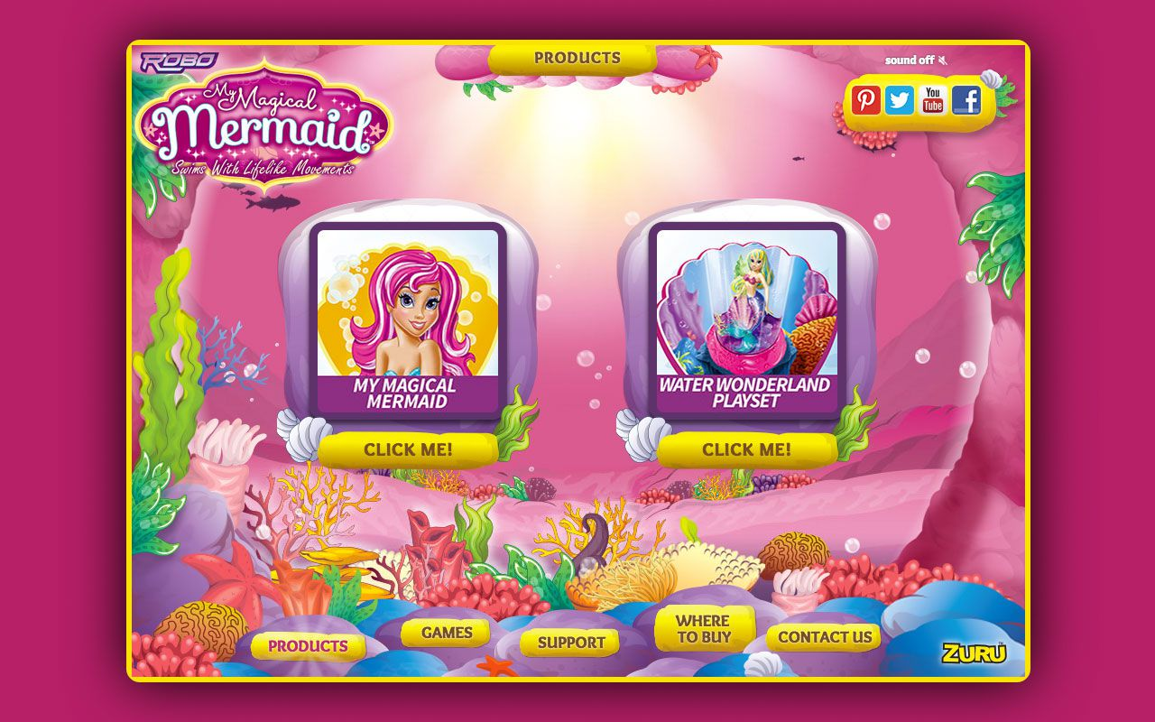Bubblefish - Case Study - Robo Mermaid website